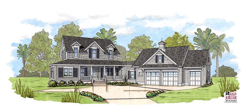 New Custom Lowcountry Style Home Start