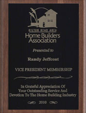 home builders association vice presidents award 2010