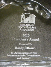 home builders association presidents award 2010